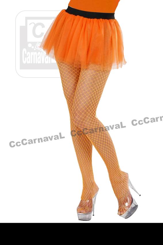 Oranje tutu fluo tulle onderrok