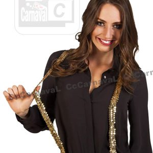 glitter gouden pailletten bretellen