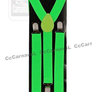 neon fluo groene bretellen