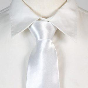 glitter witte stropdas