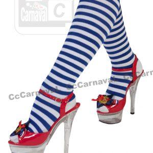 shoe clips blauw rood met gouden anker